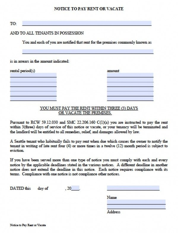 Notice Form In Word Ensure That You Follow The Law With This - notice form in word