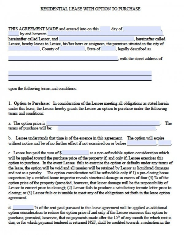 House Lease Agreement Free Copy Rental Lease Agreement - sample stock purchase agreement example