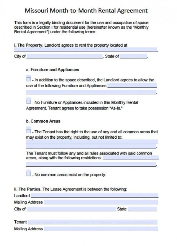 monthly rental agreement - fototango