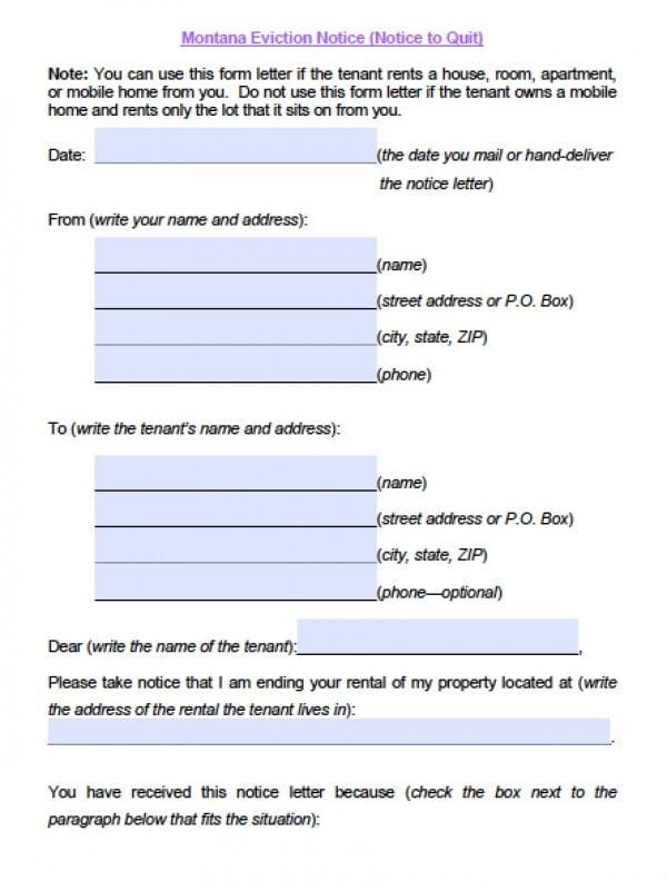 3 day eviction notice form - Keniganamas