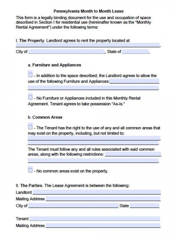 Basic Rental Lease Agreement Free Cv Resumes Maker Guide