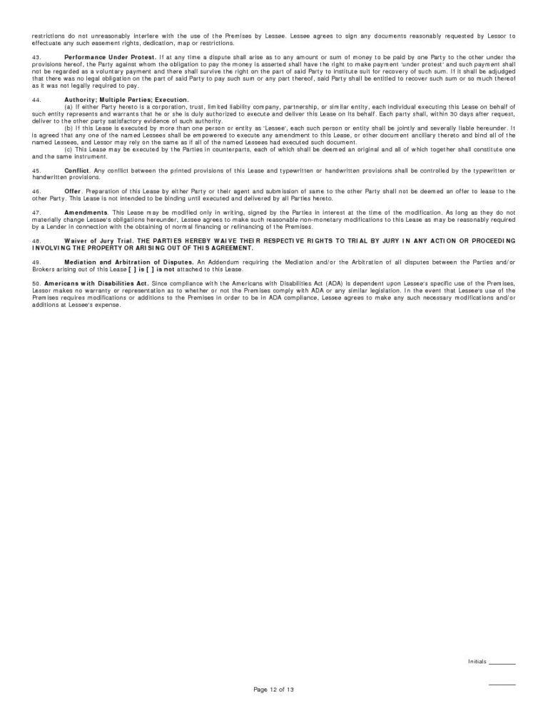 California Standard Commercial Single - Tenant Lease Agreement - tenant lease agreement