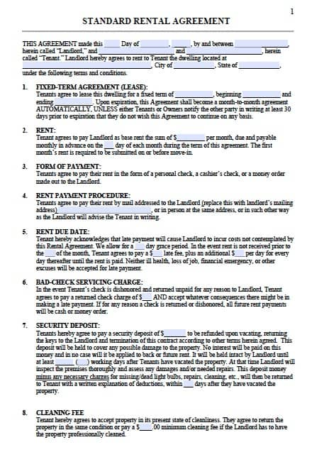 Tennessee Residential Lease Agreement Template Writing A Cv Esol
