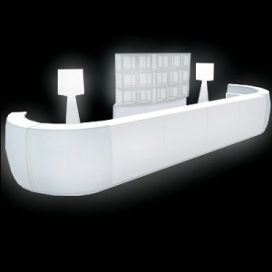 LED Bar with back bar for rent