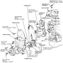 honda crx timing belt diagram
