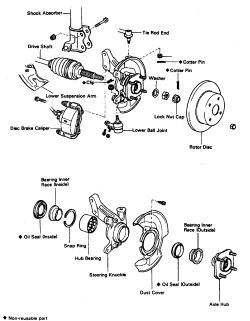 toyota corolla wheel diagram
