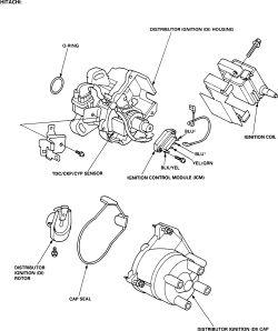 98 civic engine diagram