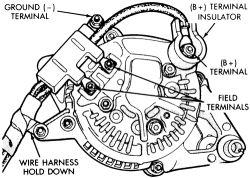 dodge alternator wiring diagram 1988