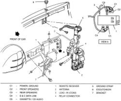 diagram of how to install a 1993 camry antenna