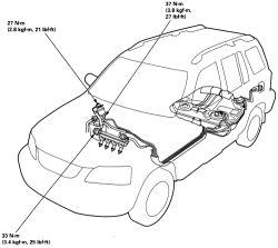 1999 honda prelude fuel filter location
