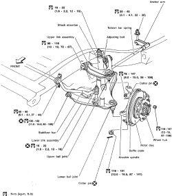 nissan frontier front suspension diagram