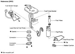 2004 tacoma fuel filter bracket