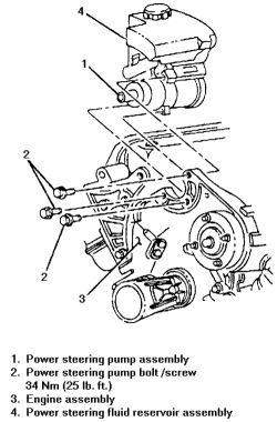 power steering schematic on 2007 g6