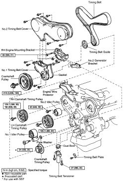 2006 toyota sienna timing belt diagram