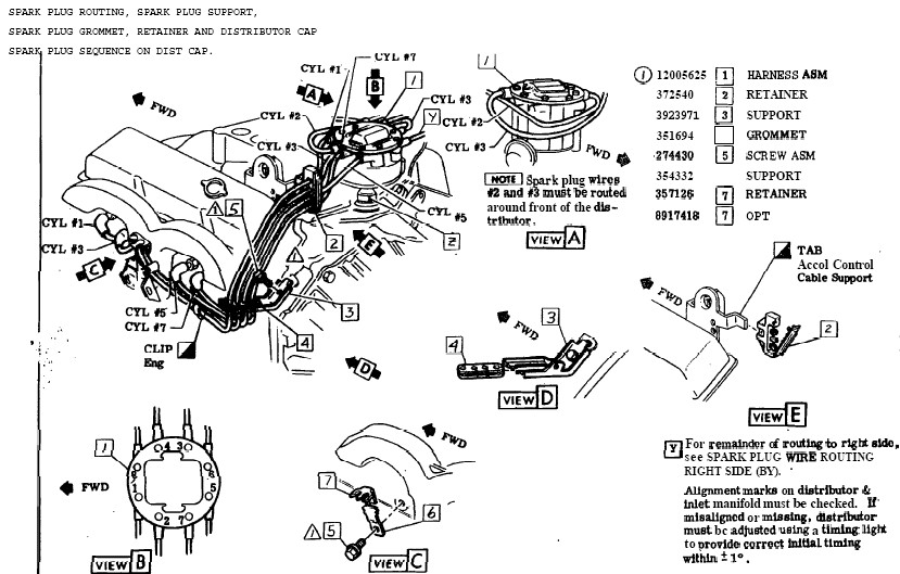spark plug wire diagram for chevy