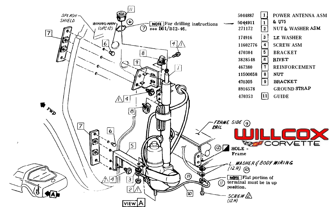 1985 corvette power antenna wiring diagram