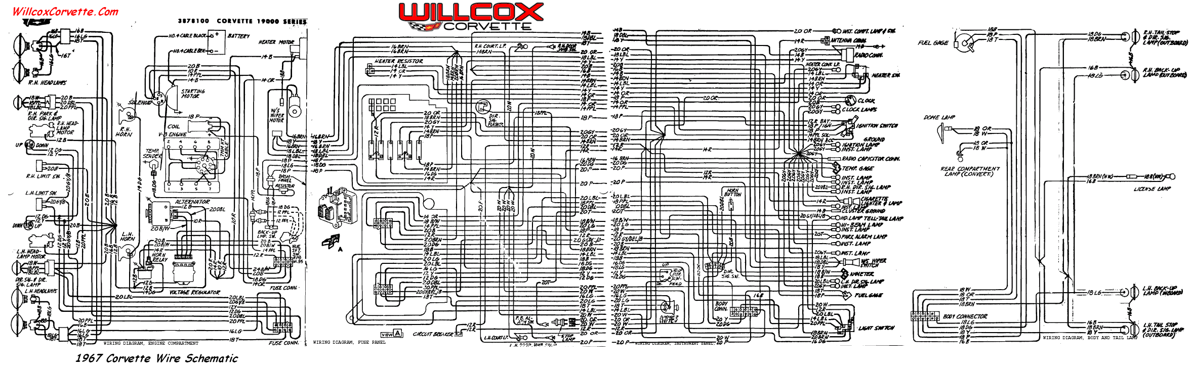 1966 corvette wiring diagram free