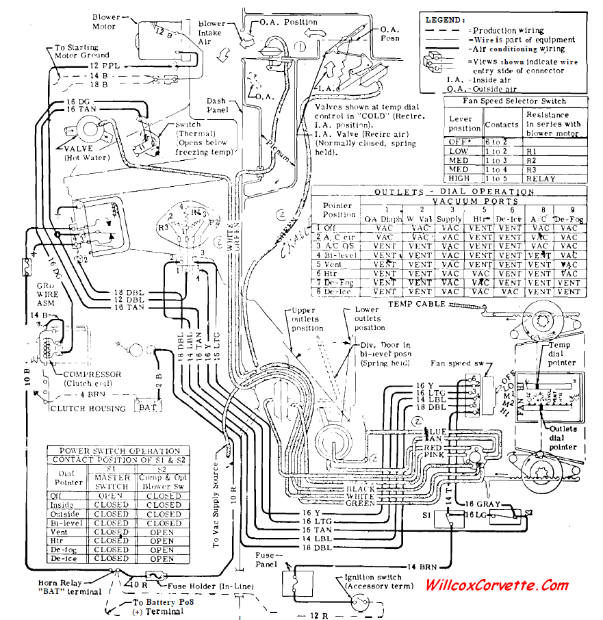 c3 corvette wiring diagram for power windows