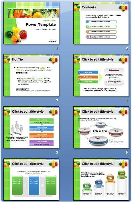 Descargar plantilla PowerPoint Alimentos - Reparación de PC y
