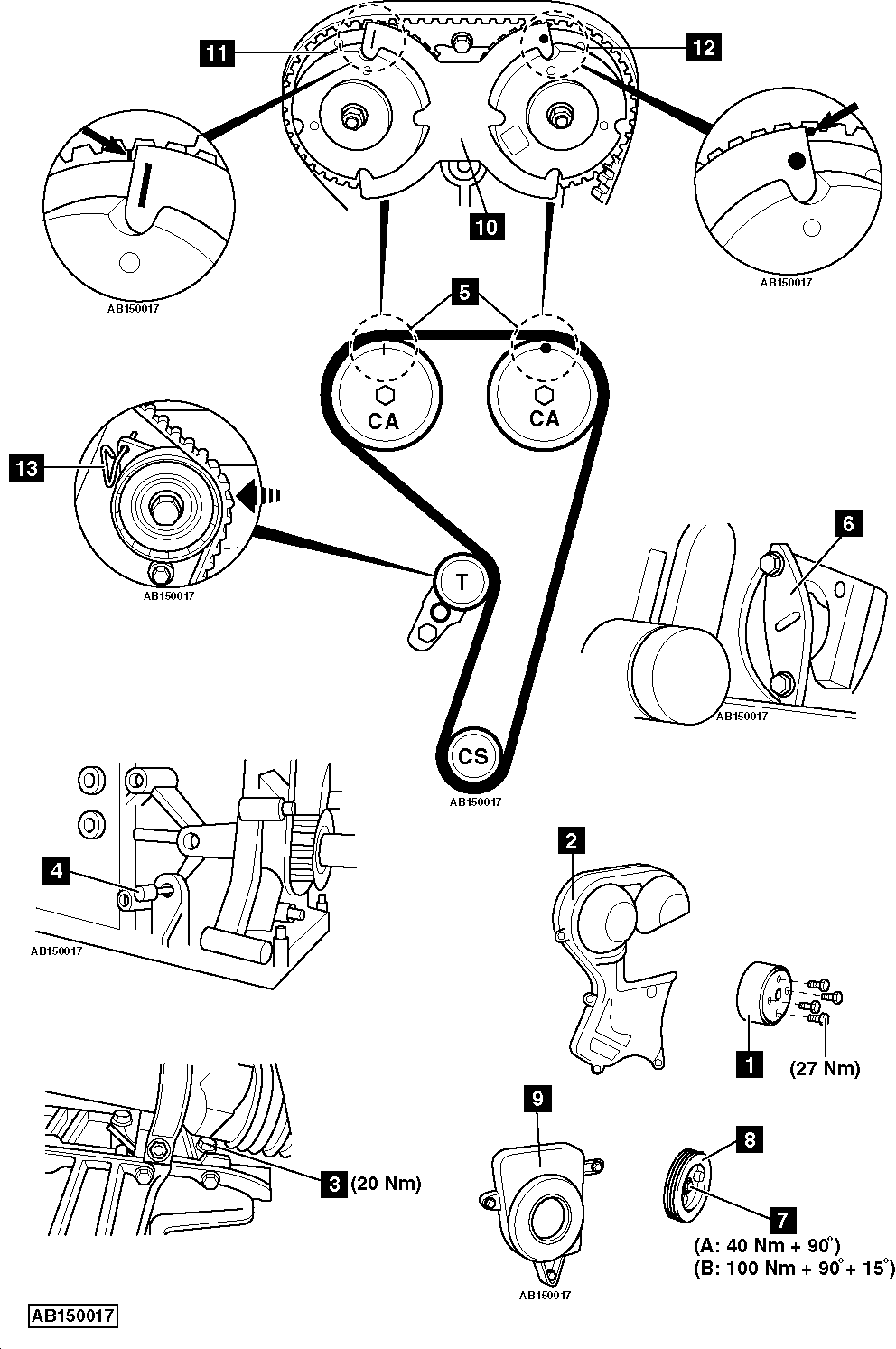 ford fiesta timing marks diagram