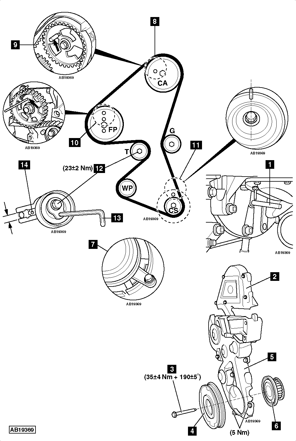 peugeot timing belt intervals