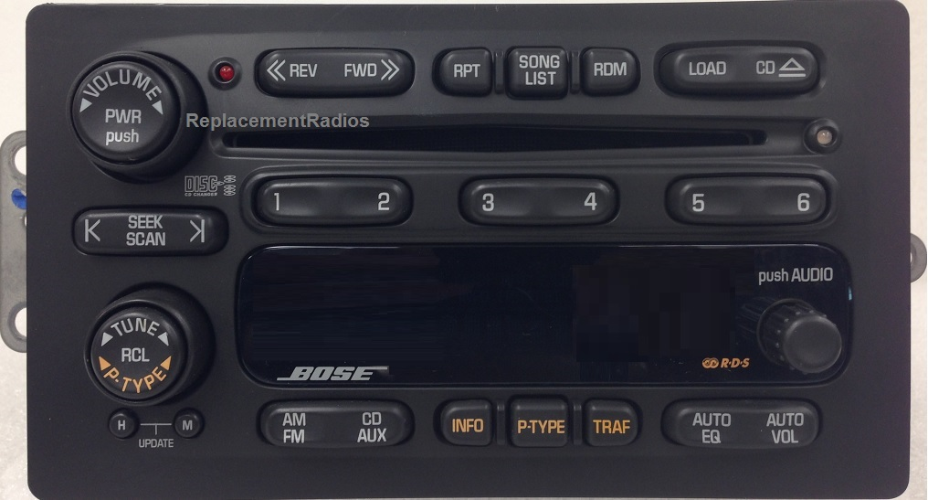 Trailblazer Envoy Bravada Rainier 2002-2004 CD6 BOSE radio