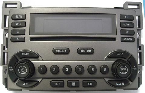 Torrent 2006 CD6 Delco XM ready radio 15798242 15892759