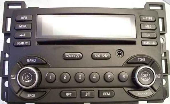 G6 2007-2009 UBK CD6 XM ready radio w/ Aux 25890720 NEW blem