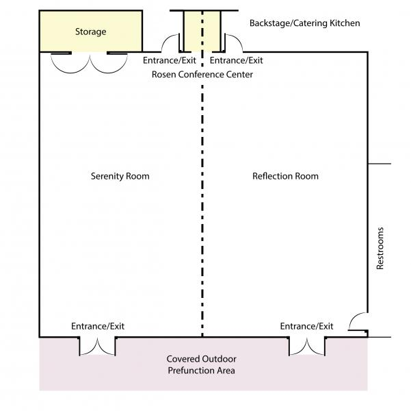 diagram of meeting rooms