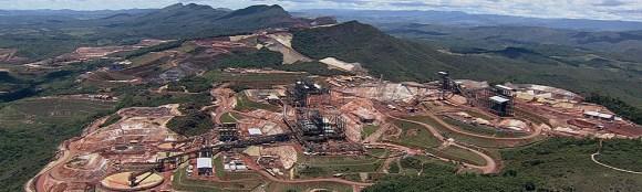 Construção de mina em Conceição do Mato Dentro (MG), onde 185 trabalhadores foram flagrados em condições análogas às de escravos (Foto: Reprodução/Anglo American)