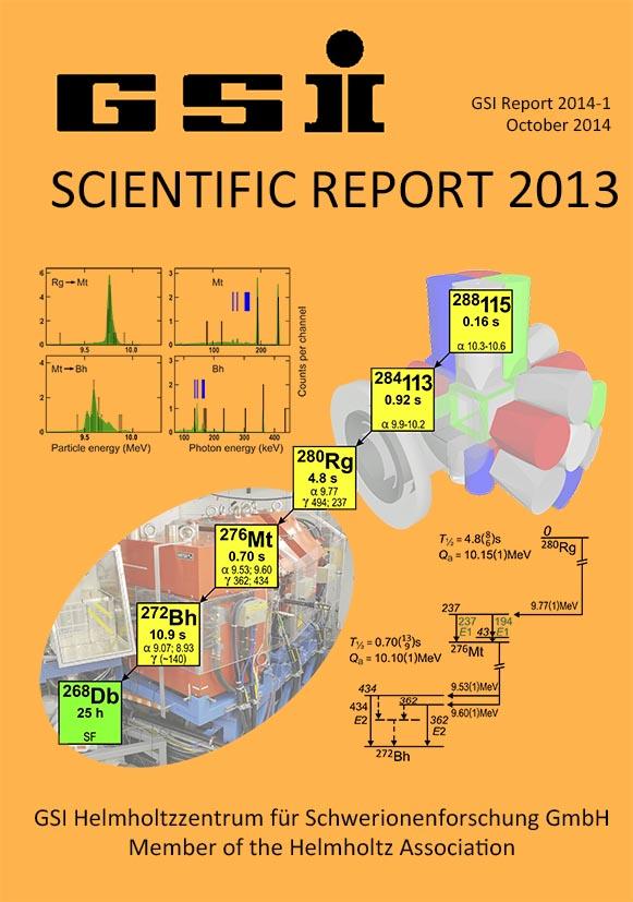 GSI Scientific Report 2013 / GSI Report 2014-1 - GSI Repository