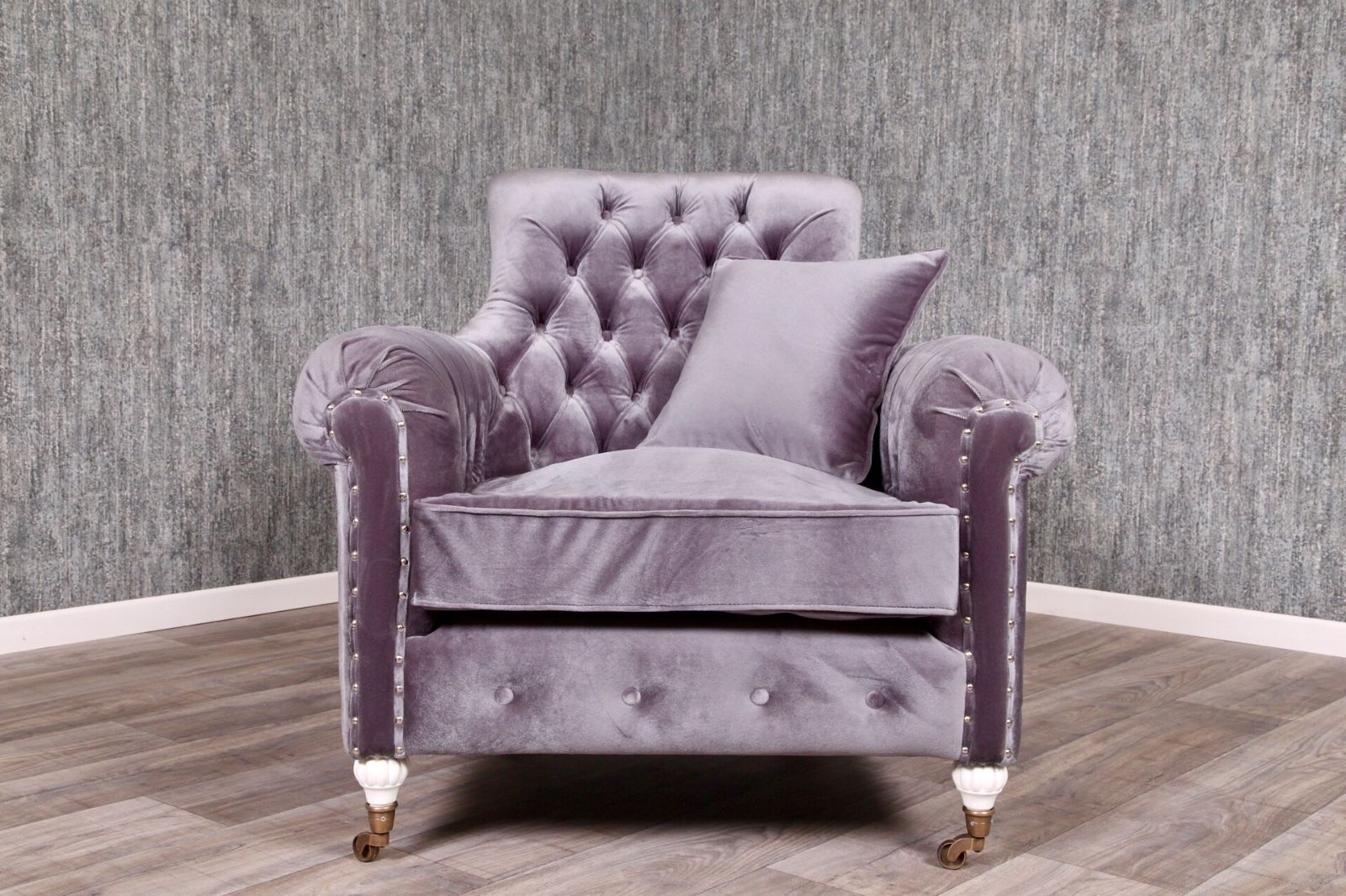 Chesterfield Sessel Grau Chesterfield Sessel Empire Grau