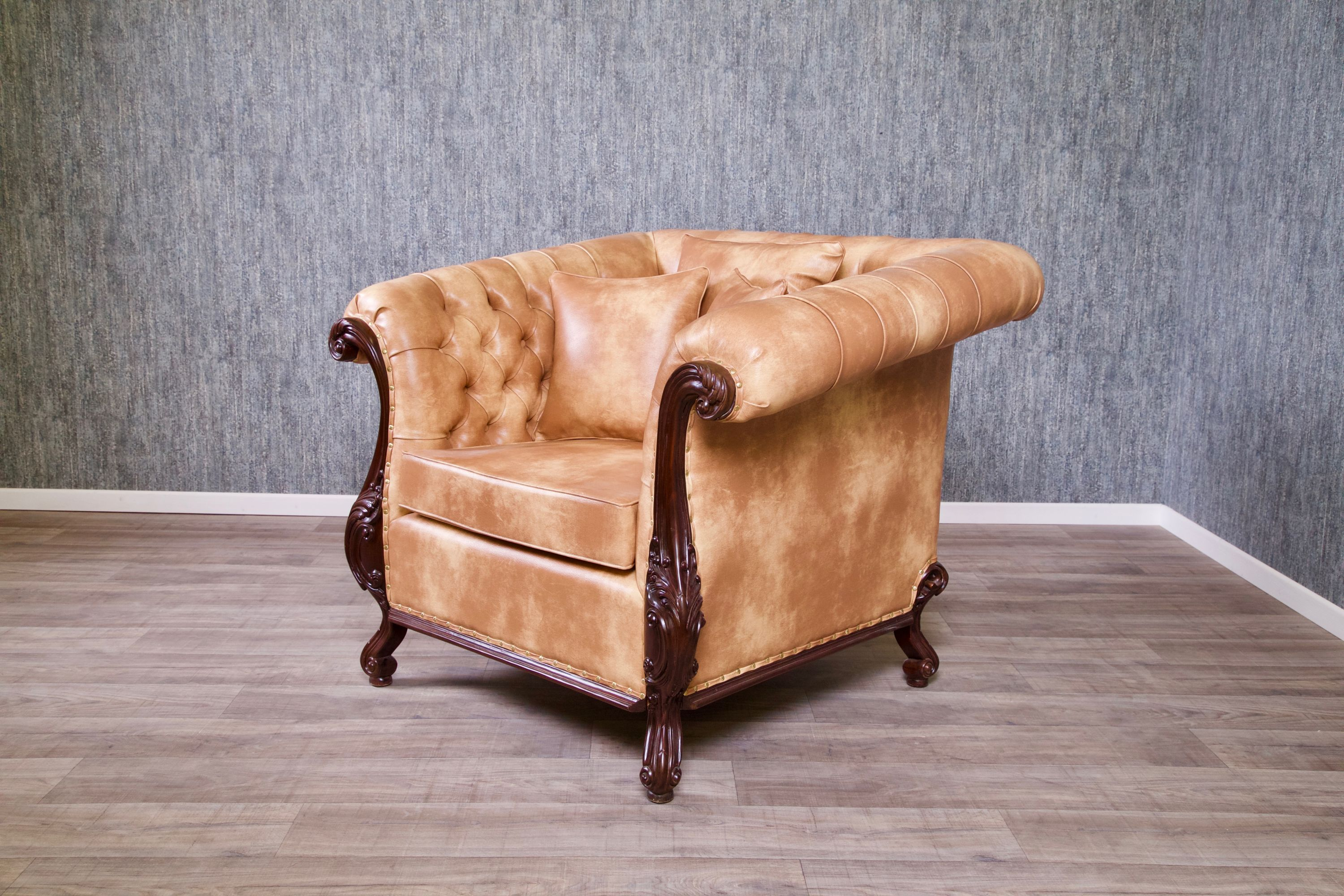 Sessel Chesterfield Chesterfield Sessel Kolonial Braun