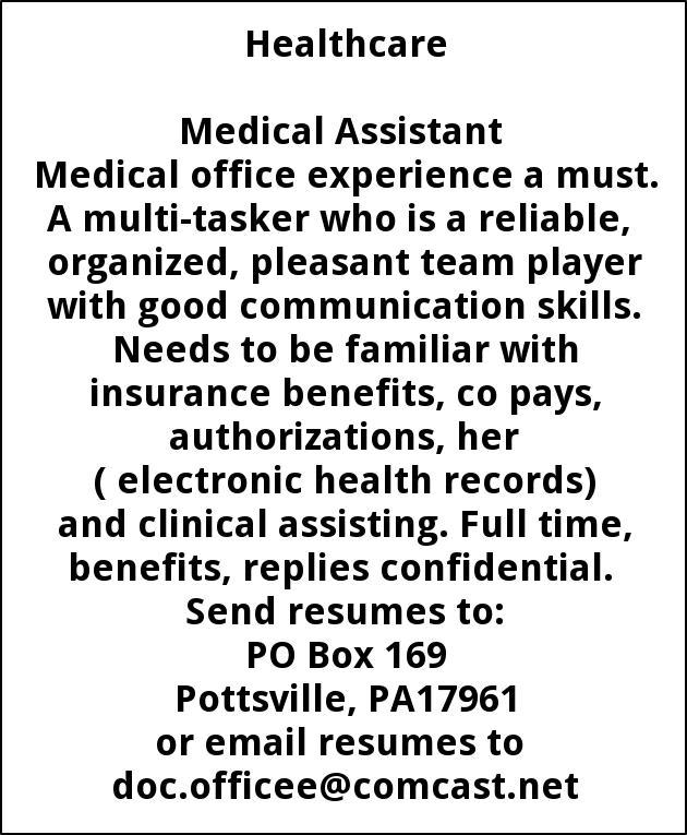 Medical Assistant, Edward Gaydos, Orwigsburg, PA