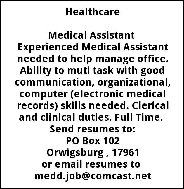 Medical Assistant, Edward Gaydos