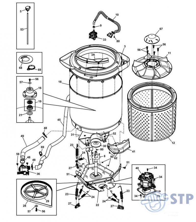 washing machine diagrama de cableado