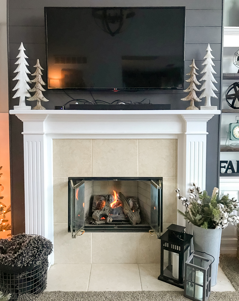 Fireplace Beam Mantel How To Build A Faux Wood Beam Mantel Repurpose Life