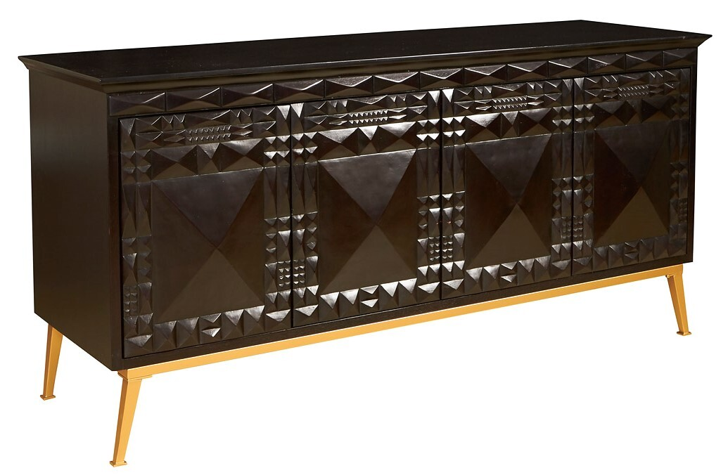Furniture Storage Sydney Sydney Mod Pyramids Credenza Black Storage Shelving