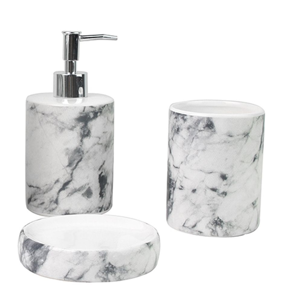 Accessoir Douche Marbre 3pc Ensemble De Douche En Ceramique 6b Bath Accessories