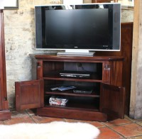 Mahogany Corner Television Cabinet - Wooden Furniture Store