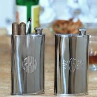 Groomsmen Gifts Flask Cigar Holder | Lamoureph Blog