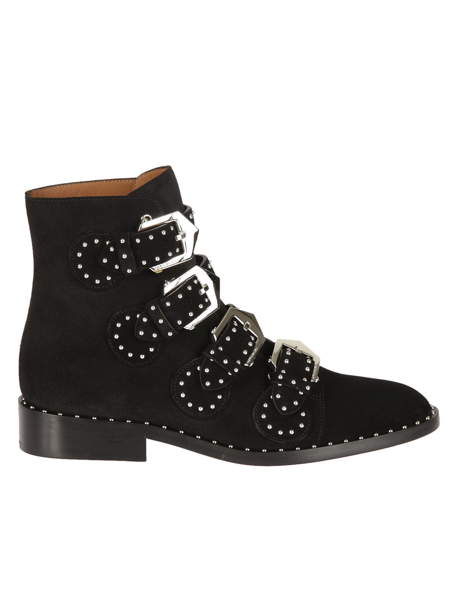 Givenchy Givenchy Studded Buckled Boots Black Women39s