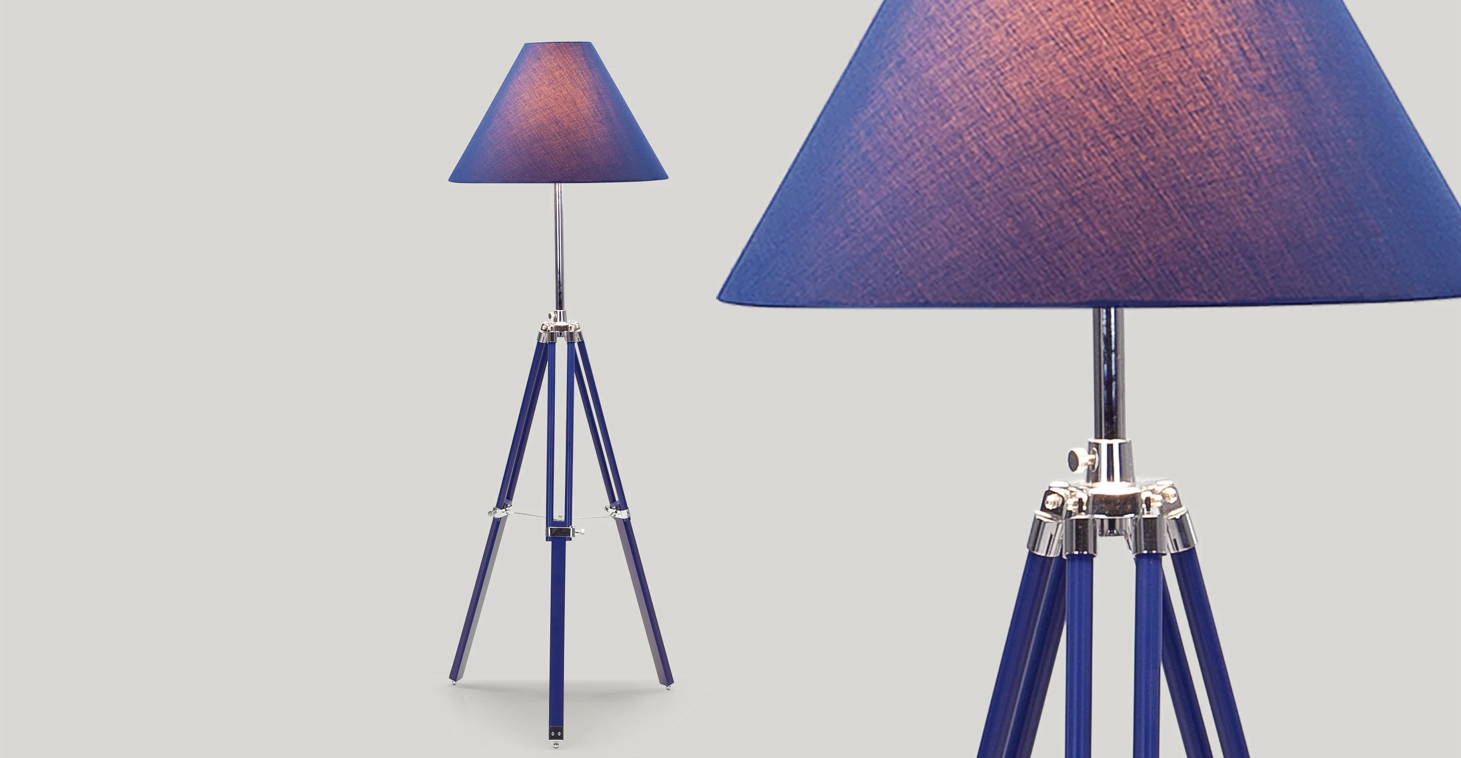 Nautical Tripod Floor Lamps Navy Tripod Floor Lamp In Nautical Blue Made