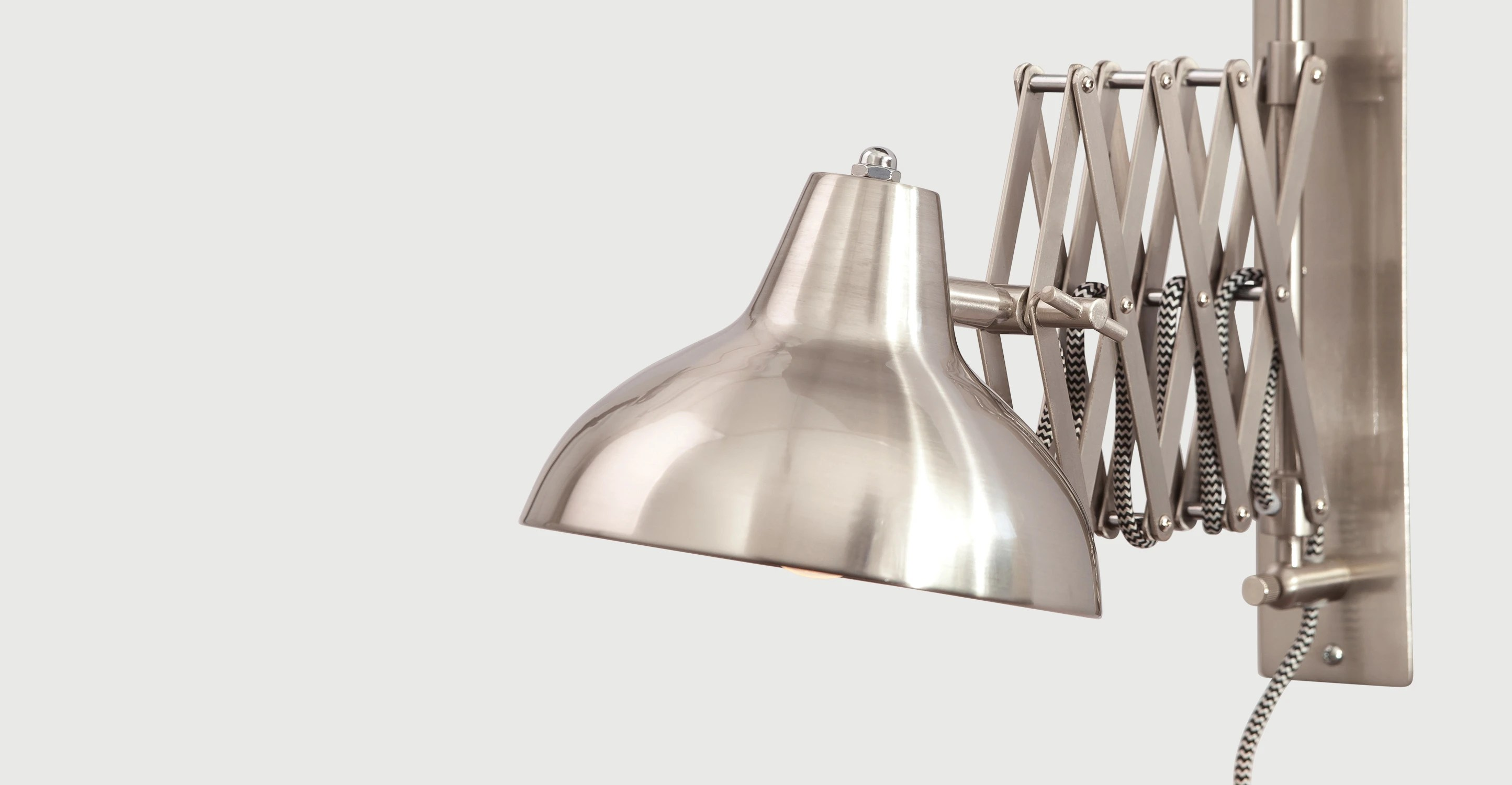 Uitschuifbare Wandlamp Frosini Wall Light In Brushed Stainless Steel Made