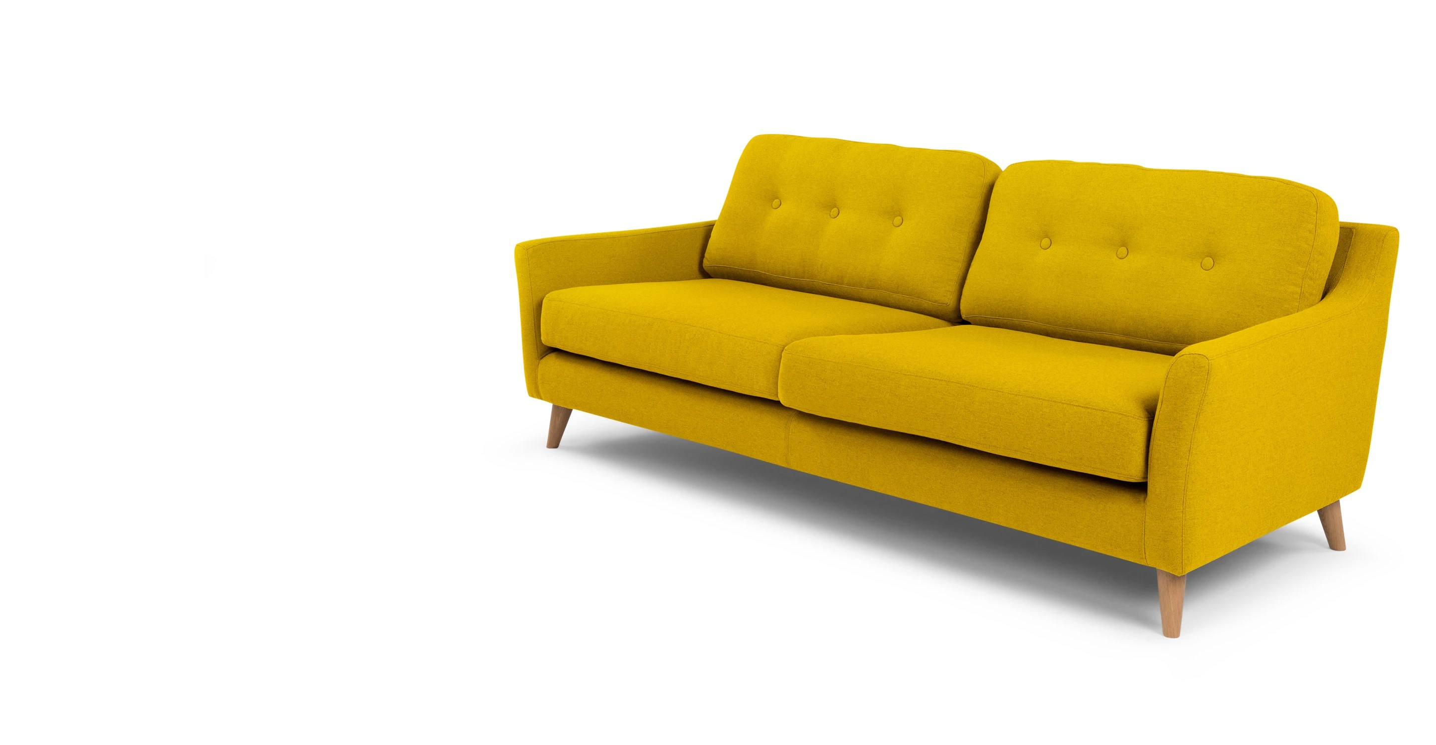 Yellow Schlafsofas Rufus 3 Seater Sofa Mustard Yellow Made