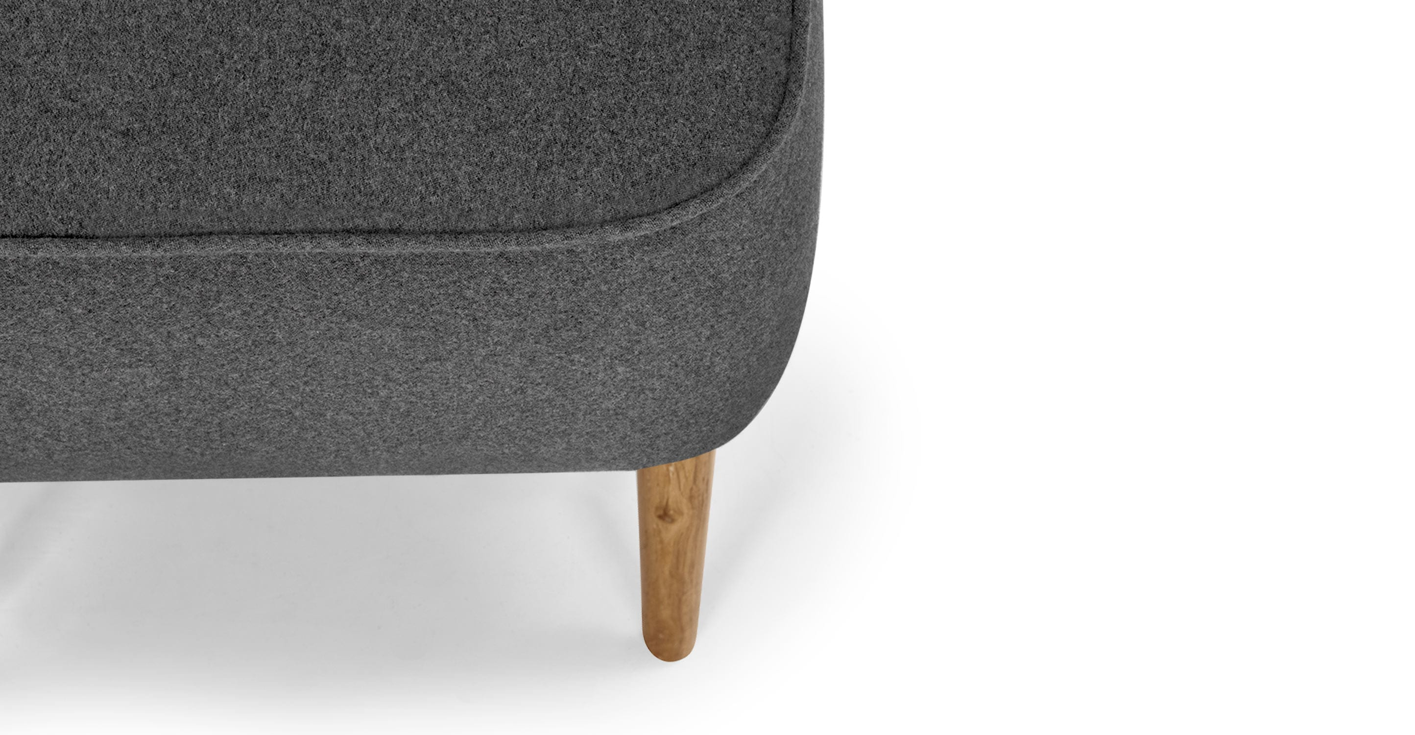 Klein Voetenbankje Jersey Small Footstool In Trilby Grey Made