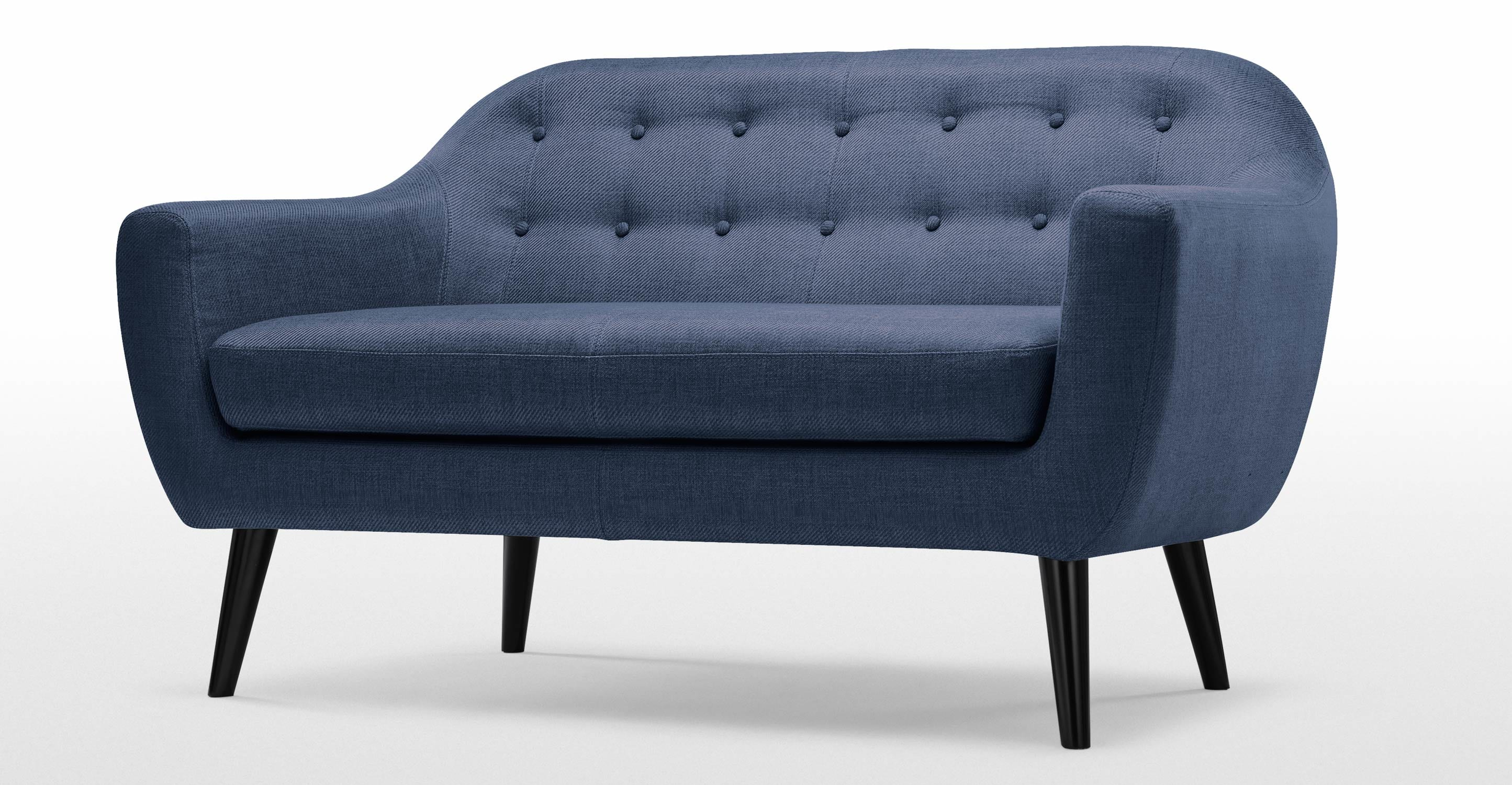 Ritchie 2 Sitzer Sofa In Dunkelblau Made Com