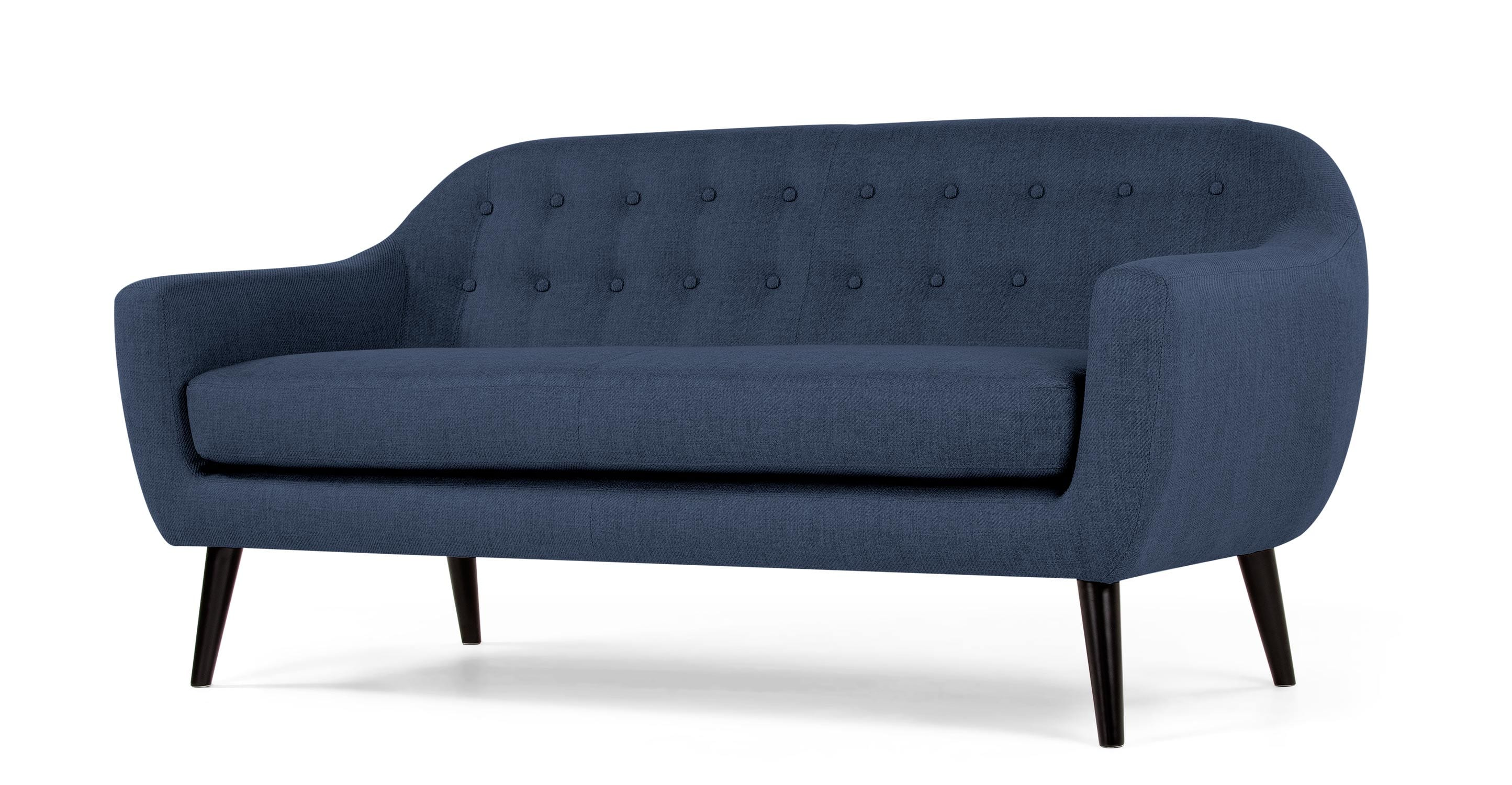 Ritchie 3 Sitzer Sofa In Dunkelblau Made Com