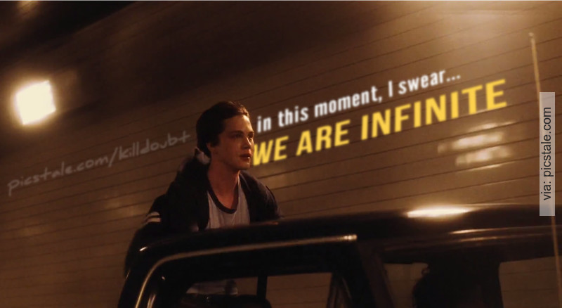 The Perks Of Being A Wallflower Quotes Wallpaper Quot And In This Moment I Swear We Are Infinite Quot