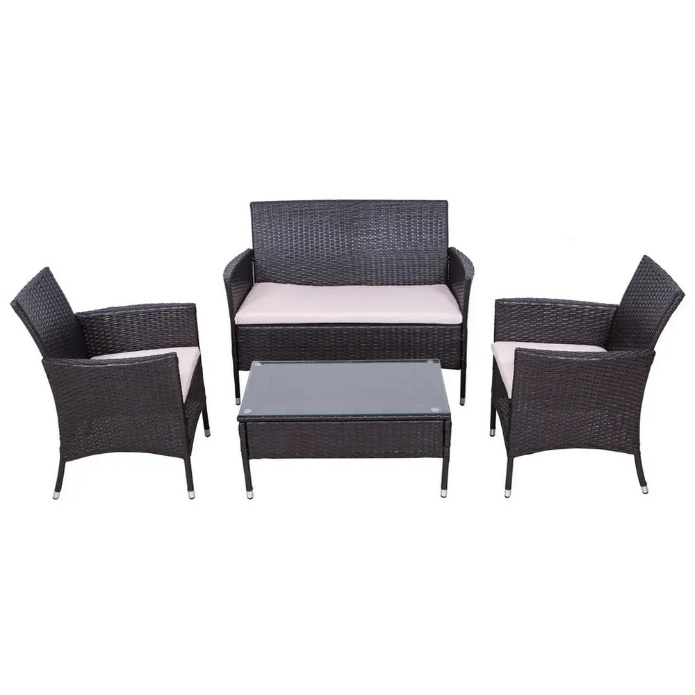 Rattan Sofa Near Me Open Box Palm Springs 4pc Rattan Sofa Chair And Table Set